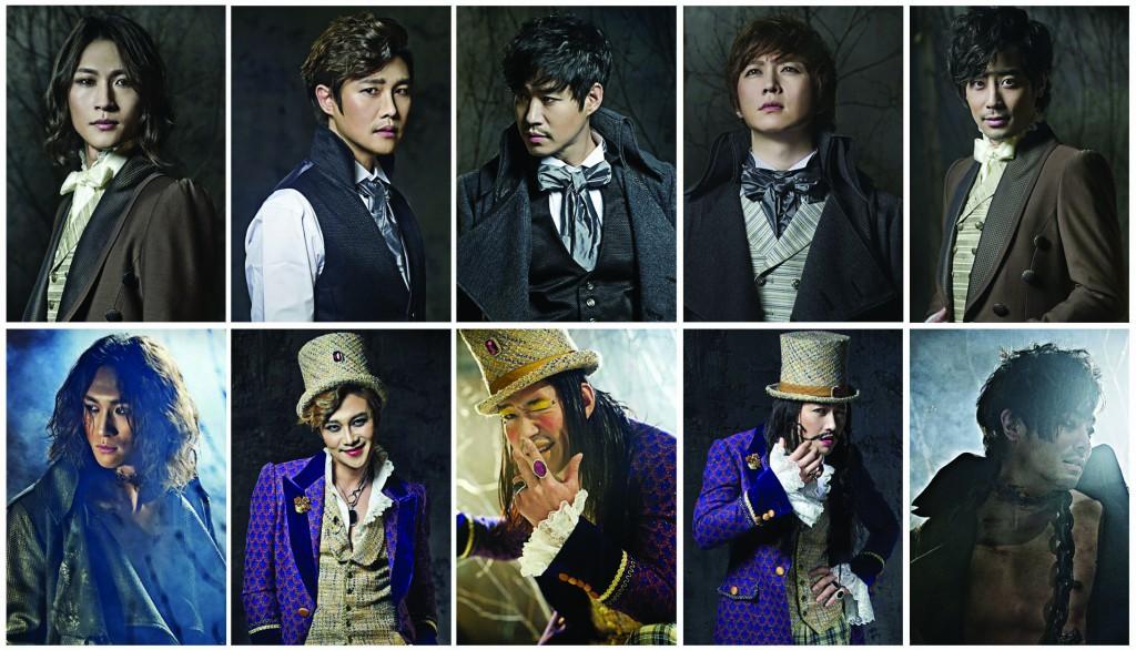 写真左から、パク・ウンテ(アンリ/怪物役)、リュ・ジョンハン、ユ・ジュンサン、イ・ゴンミョン(ビクター/ジャック役)、ハン・チサン(アンリ/怪物役)